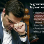 Tsipras à la Une du Monde économie